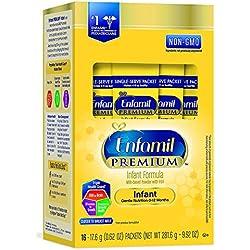 Enfamil PREMIUM Non-GMO Infant Formula, Powder, 17.4 Gram Single Serve Packets, 16 Count