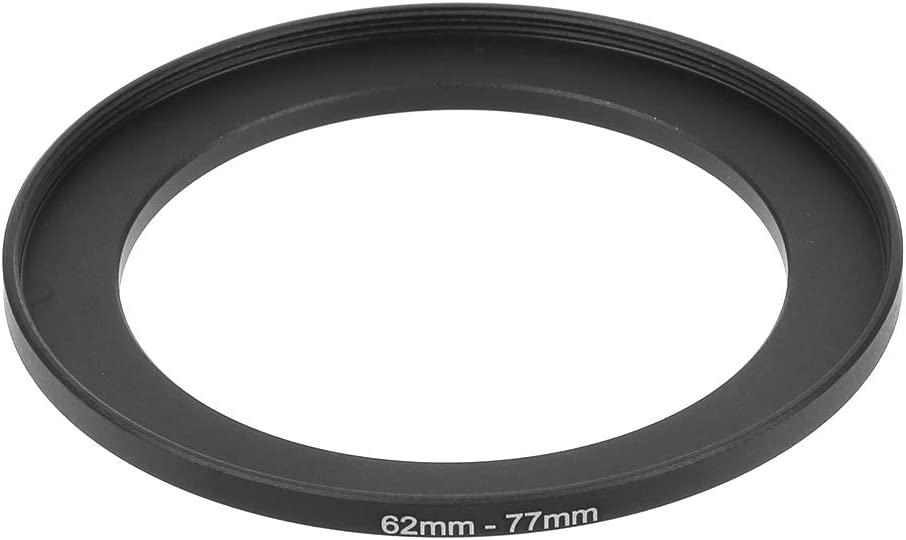 Yuanhaourty Smart Camera Lens Adapter Converter 62mm to 77mm Metal Step Up Rings Filter Camera Tool Accessories