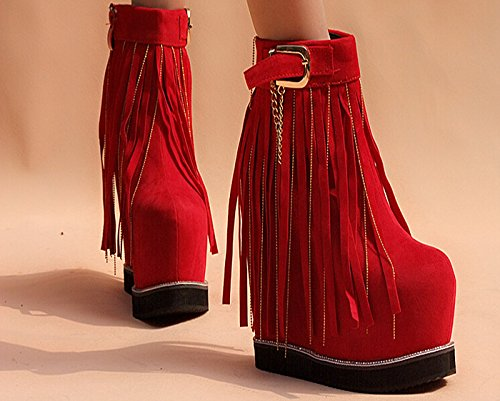 shoes 14 wedding fashion wedding 15 centimeter heel boots shoes centimeter shoes short red high gules qfwfaxA