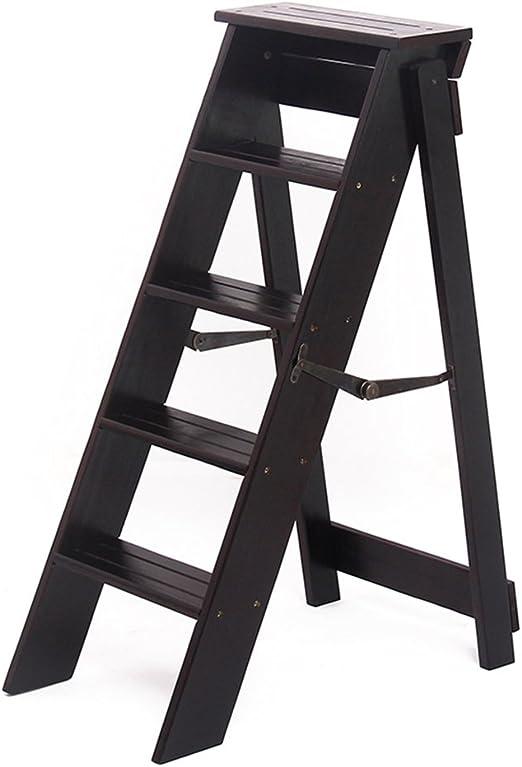 ZfgG Taburete para escalones, Madera Maciza Plegable Escalera pequeña Escalera Simple Multifunción Creativo Taburete para pasillos de Interior (Color : #1): Amazon.es: Hogar