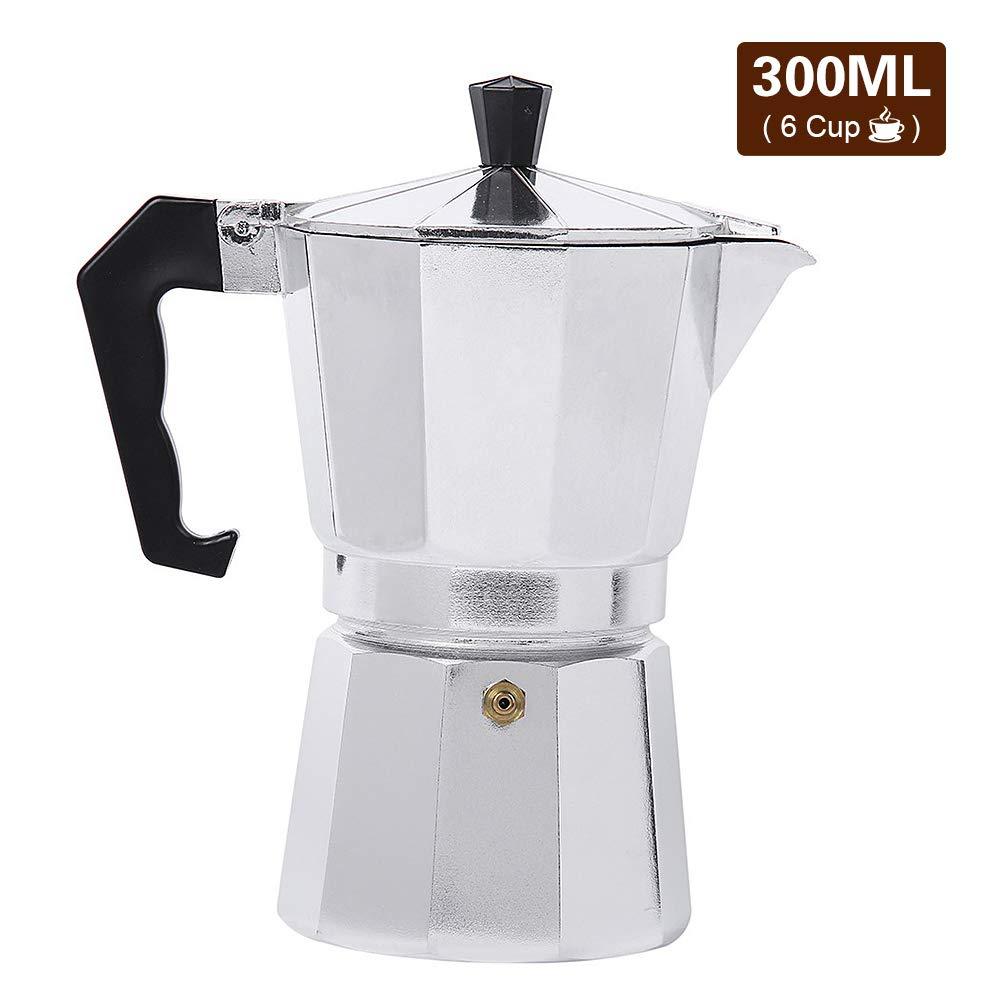 Lixada Coffee Percolator Aluminium Coffee Maker for Outdoor Home Office(50/150/300/450/600ML)