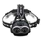 Goodjobb Durable Headlamp Headlight Hiking Bicycle Bike Rechargeable 20000LM Super Bright