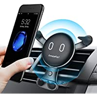Wireless Charger Car Mount Holder AmazeFan Wireless Charging Phone Holder for Samsung Galaxy S8 / S8 Plus / S7 / S7 Edge / S6 Edge plus / Note 5, Standard Charger for iPhone (Wireless Charger Holder)