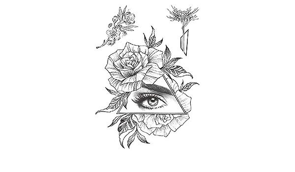 Nueva etiqueta engomada del tatuaje del brazo de la flor Half ...