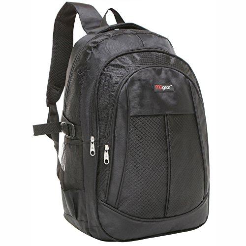 19 Inch Black Multi Purpose School Book Bag/Travel Carry On Backpack Bag