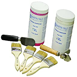 Padding Compound Super Kit with Brushes, Pad Separating Knife and Adjustable Pad Counter