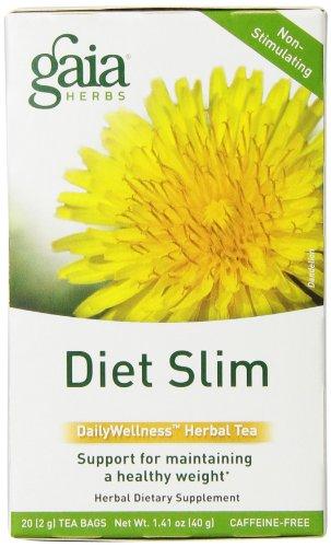 Gaia Травы Диеты Тонкий Daily оздоровительный Травяной чай Сумки, 20 граф (в упаковке 2)