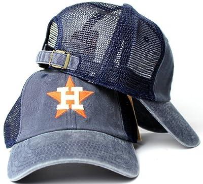 Houston Astros MLB American Needle Raglan Bones Soft Mesh Back Slouch Twill Cap Navy