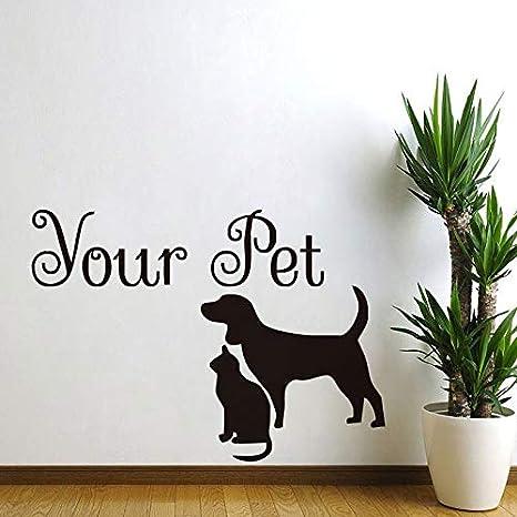 Su mascota perro y gato pegatinas de pared animales diy vinilo ...