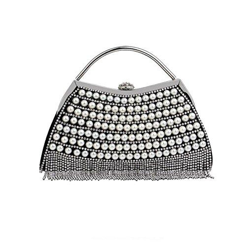 WANYANB Borlas de Perlas de Las Mujeres Brillantes Diamante ...