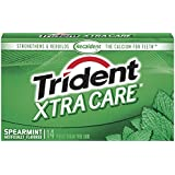 Trident Xtra Care Sugar Free Gum (Spearmint, 14-Piece, 12-Pack)
