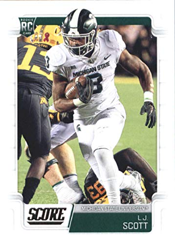 2019 Score Football #408 L.J. Scott Michigan State Spartans Rookie Official NFL Trading Card From Panini Ravens