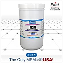Kala Health - MSM Powder (OptiMSM) Fine Powder. 1 kg (2.2 lbs) Pure MSM for Joint, Skin, Nail and Hair Health. The ONLY MSM supplement made in the USA - Organic Crystals Free of any Additives.