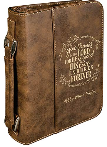 Zip Up Personalized Bible Cover With Easy Carry Handle ()