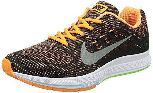Nike Mens Air Zoom Structure 18 Running Shoes, Negro/Anaranjado/Blanco, 44 D(M) EU/9 D(M) UK