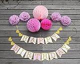 ウエクエオリジナルお誕生日飾り付けセット!海外風のおしゃれなバースデーデコレーション・ペーパーフラワー・ガーランド・バナー
