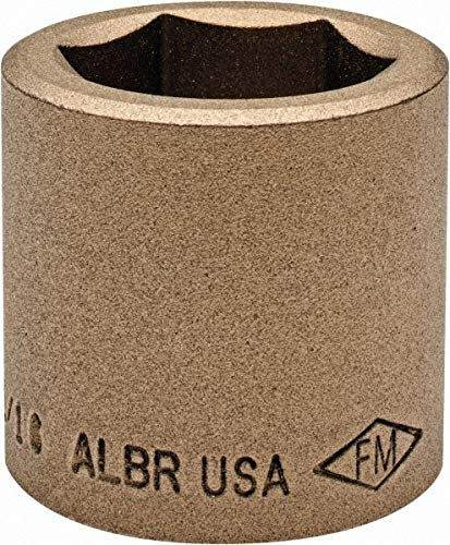 """1/2"""" Drive, 1-1/16"""" Nonsparking Standard Hand Socket pack of 2 -  Ampco"""