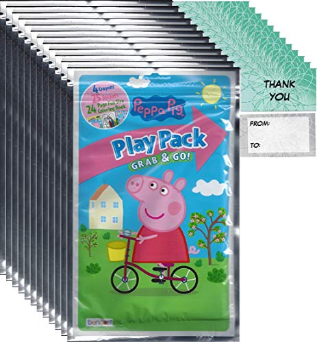 Peppa Pig Grab n Go Play Packs (12 Pack) Party Favors and 12