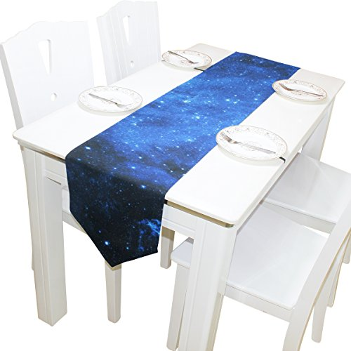 ABLINK Blue Sky 100% polyester characteristic print double-sided Table Runners
