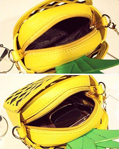 de Diferente Bolsa de Crossbody mensajero la Regalo PU Piña de Bolsa cluth Bolso hombro de Mujeres Navidad Cuero Amarillo Bolsa 8n0qOR