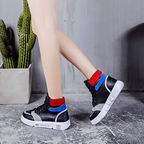 Nero Lace Scarpe Fitness Sneakers Running Women Estate Scarpa Pantofola Casual Shoes Bianco Respirante Ginnastica Moda Ihengh Donna Sport Vintage up Francesina Ragazza Stampa Breathable gYXnT