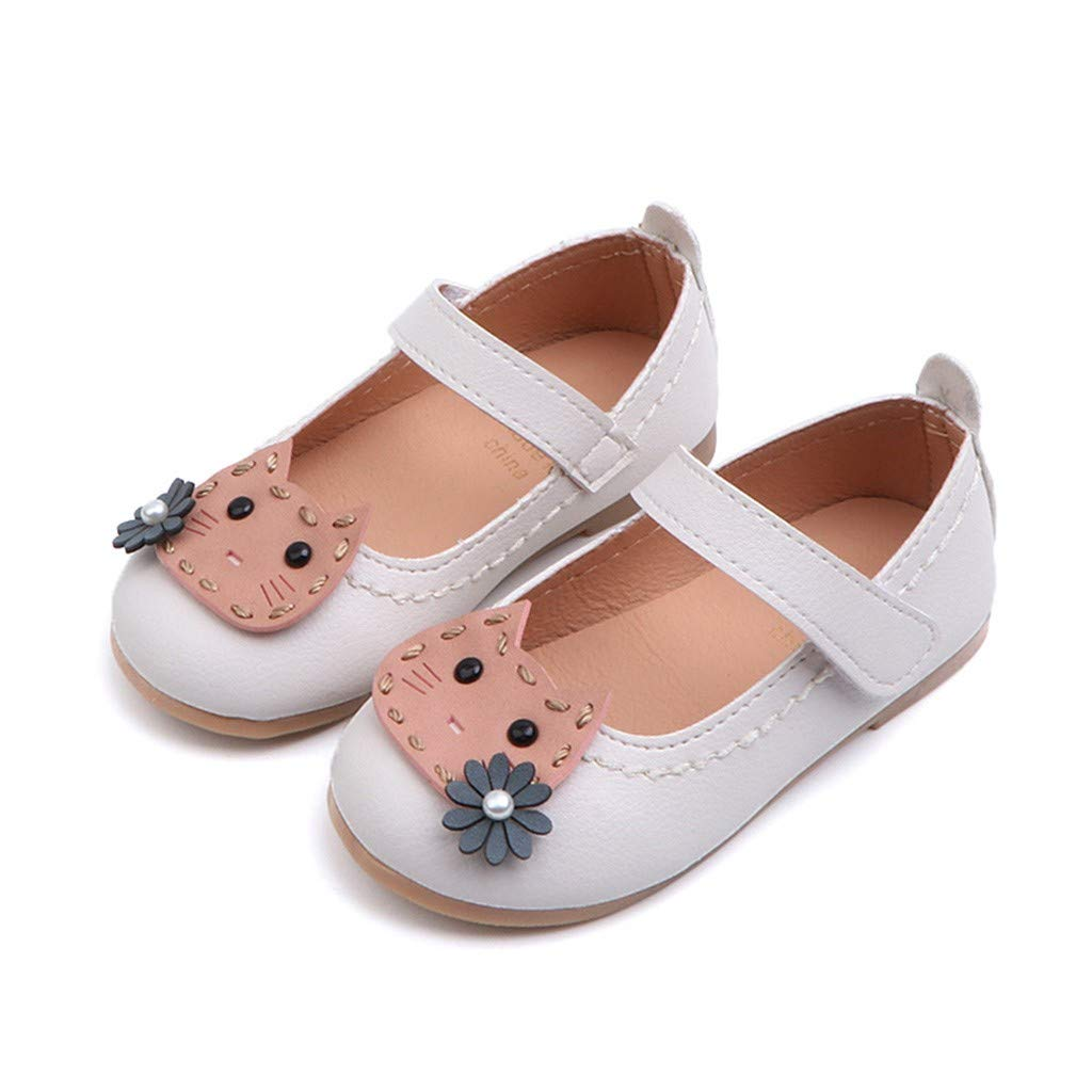 Sandals Toddler Baby Girls Flower Cat Single Princess Casual Flat Shoes