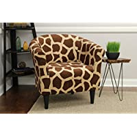 Mainstay Marlee Animal Printed Bucket Accent Chair (Giraffe Animal Print)