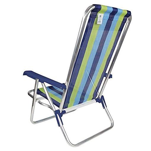 Blue /& Green Stripe MOR 4-Position Aluminum Beach Chair - - Pack of 1