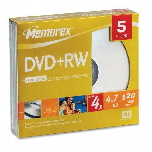 Imation - Memorex 5 X Dvd+Rw 4.7 Gb  4X Jewel Case Product C