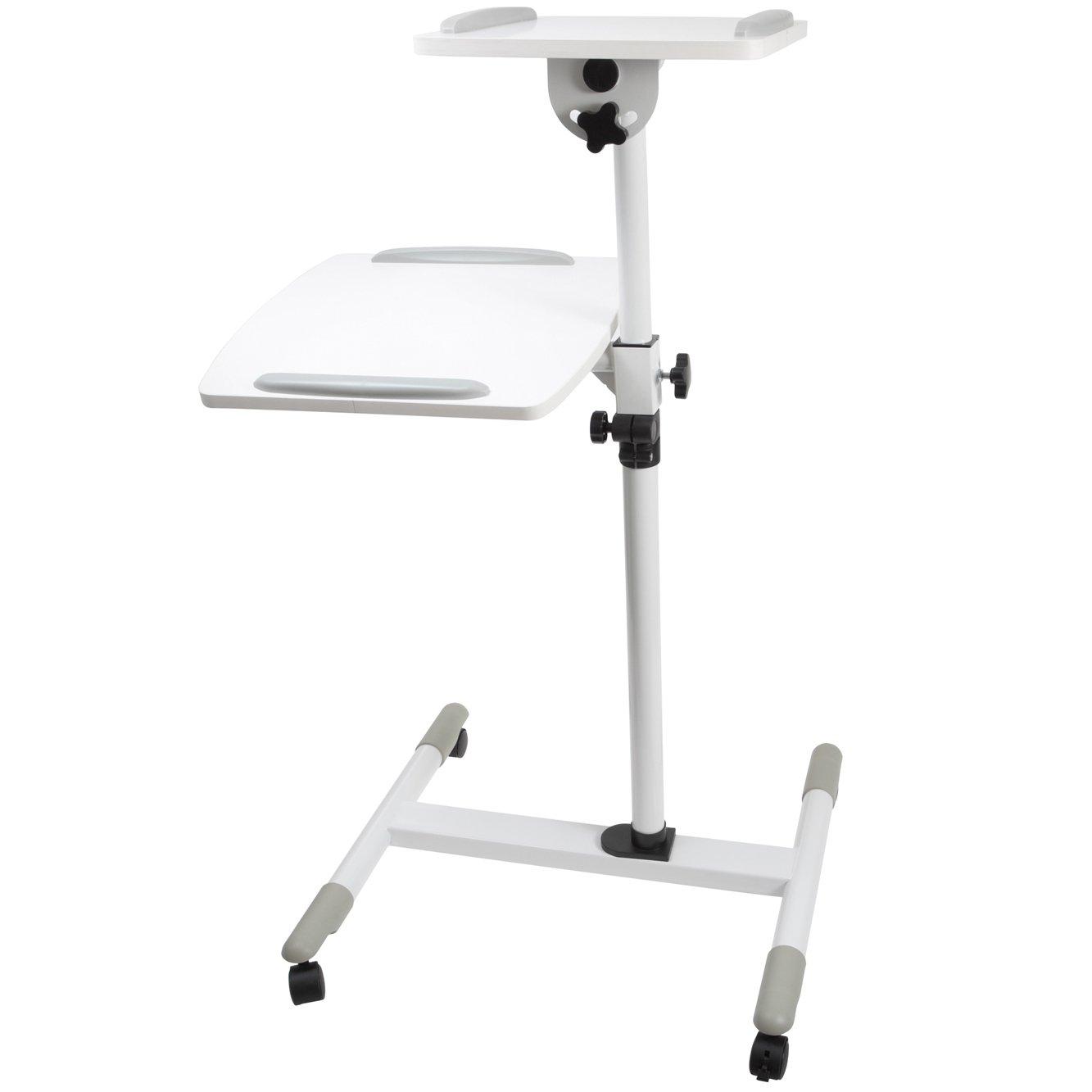 Proper-Carrello regolabile, per PC e proiettore, colore: bianco Praktica PB114