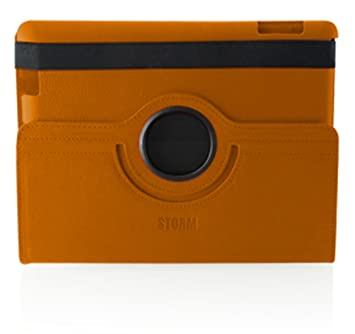 bb0b818e65e2e2 Storm of London iPad 2 360 Swivel Case Auto Shut off- Orange - OEM  packaged  Amazon.co.uk  Computers   Accessories