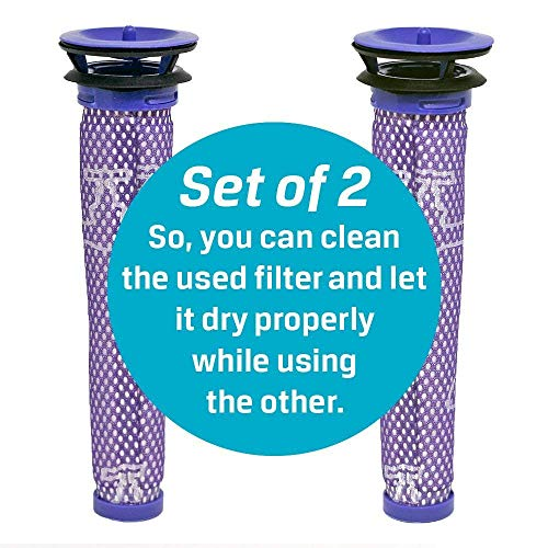 Filter Replacements for Dyson V6, V7, V8, DC58, DC59, DC61, DC62, Animal - Includes Bonus E-Book - Replaces Part DY-965661-01 - 2-Pack by ProParz (Image #3)