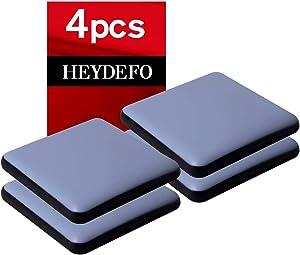 Furniture Sliders for Carpet and Hardwood Floors Adhesive Furniture Glides Self-Stick Furniture Sliders Pads (4, square50mm)