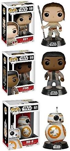 Funko POP! Star Wars Episode VII: Rey & Finn w/ BB-8 - Vinyl ...