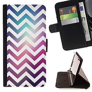 For Sony Xperia M2 Case , Espacio púrpura del trullo Moda reflectante- la tarjeta de Crédito Slots PU Funda de cuero Monedero caso cubierta de piel