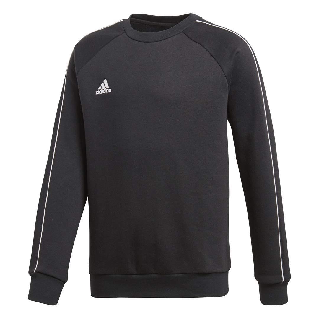 adidas Juniors' Core 18 Soccer Sweatshirt, Black/White, Large by adidas