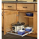 """Rev-A-Shelf 5WB1-2122-CR 21"""" W X 22"""" D Base Cabinet Pull-Out Chrome Wire Basket"""