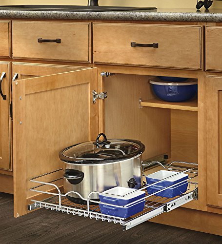 Rev-A-Shelf - 5WB1-2122-CR - 21 in. W x 22 in. D Base Cabinet Pull-Out Chrome Wire Basket (Single Storage Not Unit)