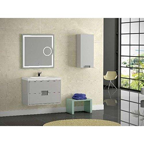 CV - Mueble de baño VALLADOLID 80cm - Color GRIS: Amazon.es ...