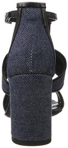 a nero Blu Scarpe ALBERTO FERMANI Tacco Emiko T con Blau Cinturino Col Donna wnxF6T