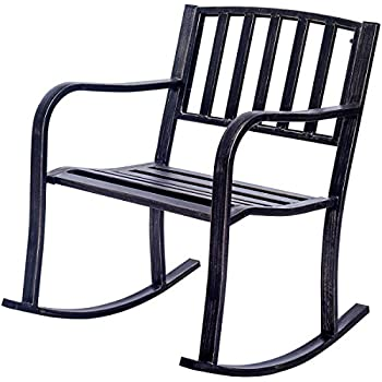 Amazon Com Best Choice Products Metal Rocking Chair Seat