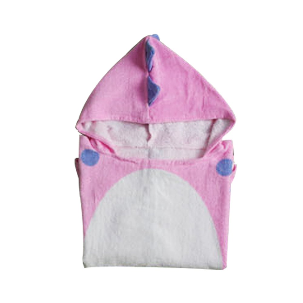 yaode 100/% Premium Cotton Hooded Towel Breathable Warm Child Cartoon Bathrobes Polygonal Dinosaur Bath Towels