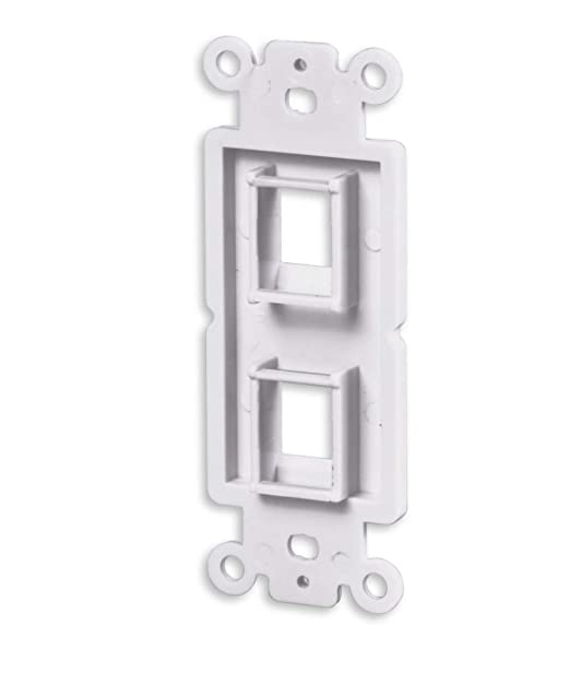 Pack of 10 DCFun 1-Port Quickport Wall Plate for Standard Keystone Insert Jack