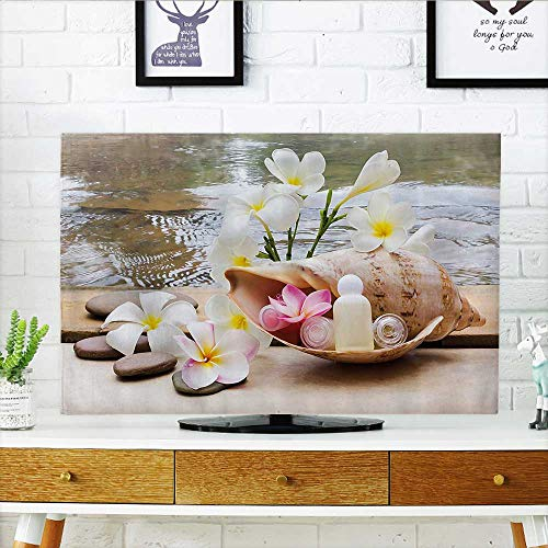 (Protect Your TV Trio Bubblebath with Cream and Liquid Soap with Cute Flowers and Sea Shell Bathroom Protect Your TV W25 x H45 INCH/TV 47