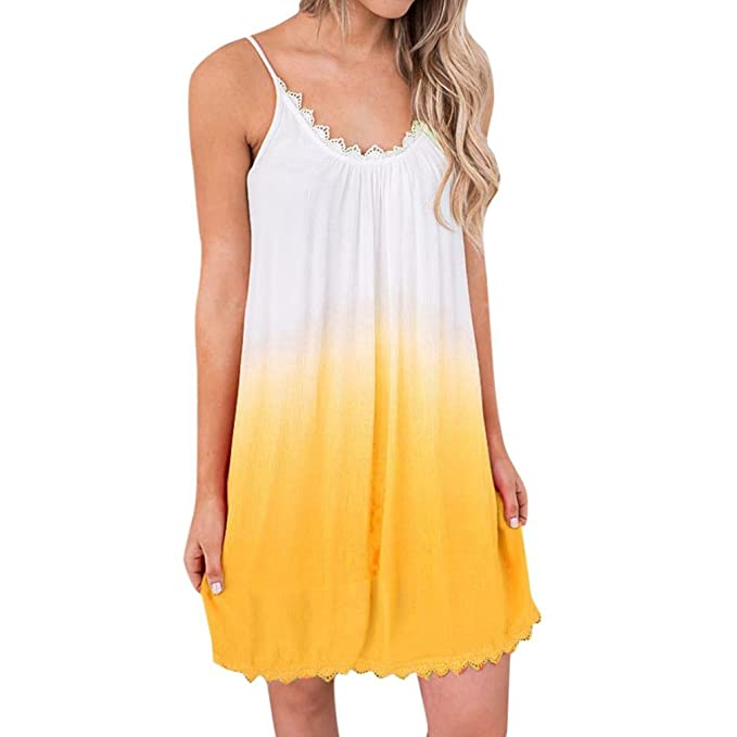 Vestidos de Mujer, ASHOP Vestido Verano 2018 Sin Mangas Casual Ajustados T-Shirt Vestido