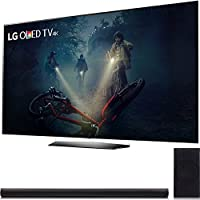 LG B7A Series 65 OLED 4K HDR Smart TV 2017 Model (OLED65B7A) with LG 360W 4.1ch Music Flow Wi-Fi Sound Bar with Wireless Subwoofer