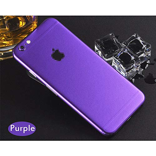 1 piece Top Sell Full Body Candy Color Decal Sticker Wrap Skin Case Cover For iphone 5 5S SE 6 6s 7 8 Plus X Ice Film for 6 6s Protector ()