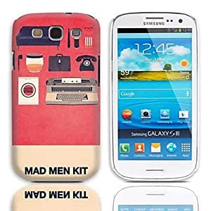 SHOUJIKE Mad Man Kit Pattern Hard Case with 3-Pack Screen Protectors for Samsung Galaxy S3 I9300