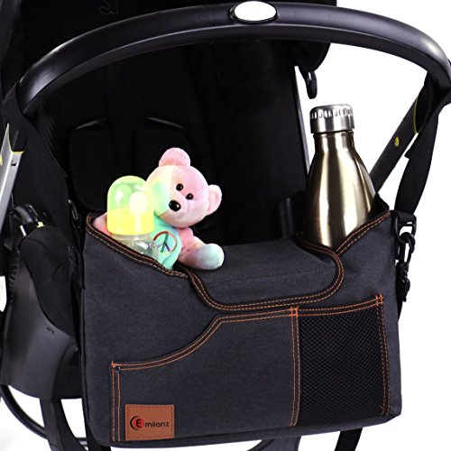 Check Out This Universal Stroller Organizer Bag - with Double Two Drink Cup Holders for Smart Moms -...