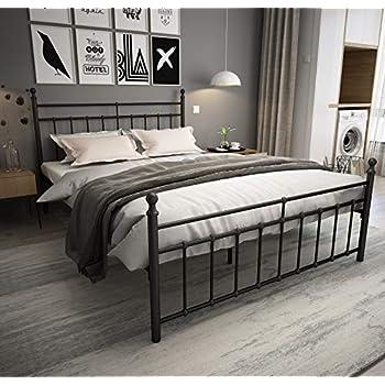 Amazon Com Black Metal Full Size Platform Bed Black